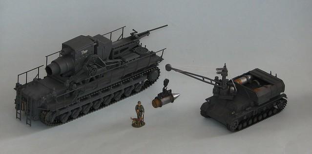 German Karl Mörser & Munitionspanzer IV