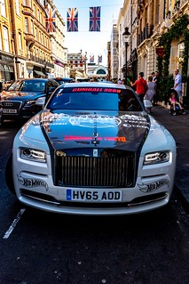 Gumball 3000 Rally 2018 : Another Rolls-Royce in Covent Garden.