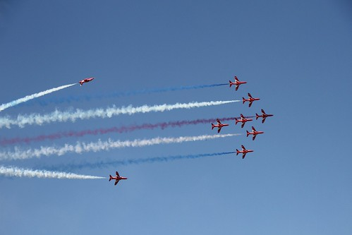 The Red Arrows at the Goodwood Festival of Speed 2018. 2018-08-24_09-57-50