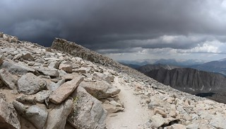 1668 The clouds are getting seriously dark ahead of us as we descend from Mount Whitney on the JMT | by _JFR_