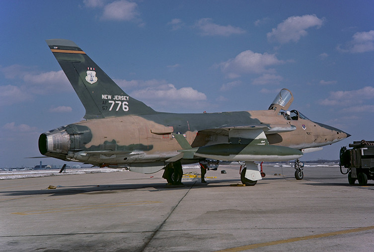 F-105B Thunderchief 57-5776 of the 141st TFS/108th TFW New Jersey ANG