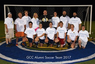 Wed, 08/15/2018 - 11:19 - A photograph of the 2017 Alumni Soccer team, courtesy of GCC