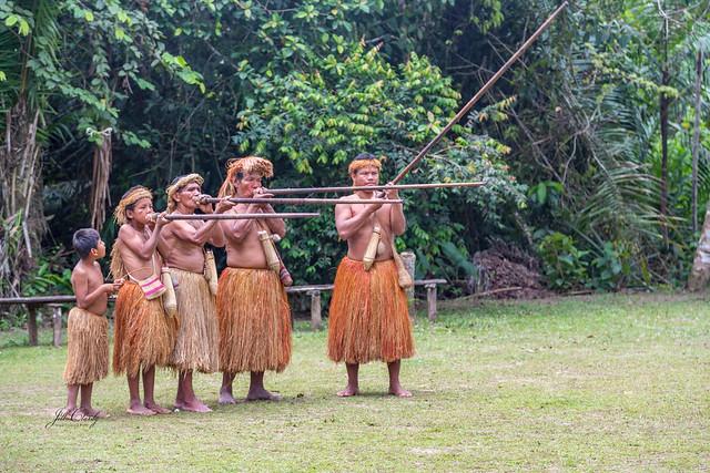 Yaqua Indian Tribe, Amazon River, Peru