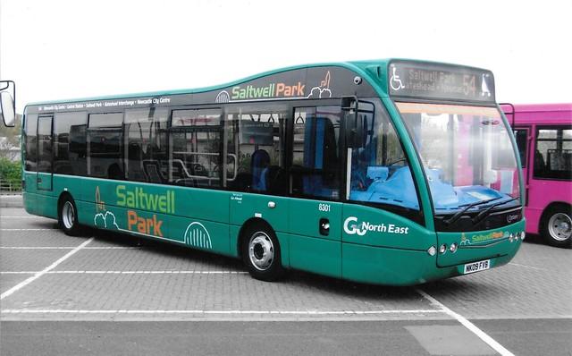 Go North East Saltwell Park 8301 / NK09 FVB