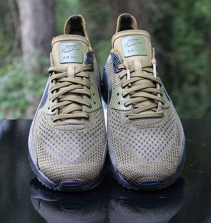 2736ee088a ... Nike Air Max 90 Ultra 2.0 Flyknit Olive Flak Black 875943-302 Men's  Size 9