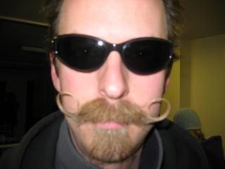 dj   by high hat beaver moustache man