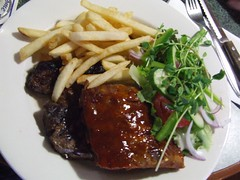 steak and ribs at The Park Restaurant | by Vanessa Pike-Russell
