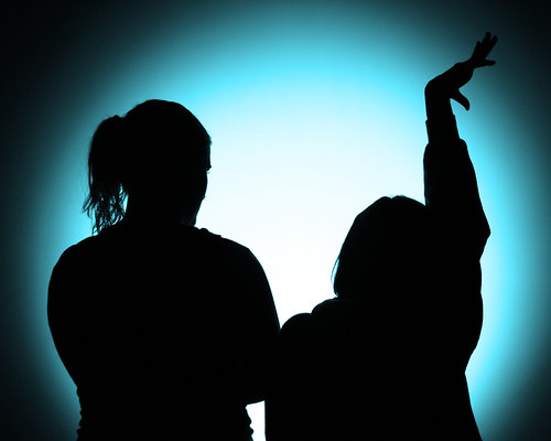 Jess and Megan Silhouette (Blue) | by chrismetcalfTV