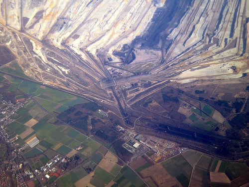 """Europe's """"biggest hole"""" and largest, most destructive open-pit coal mine in Germany"""