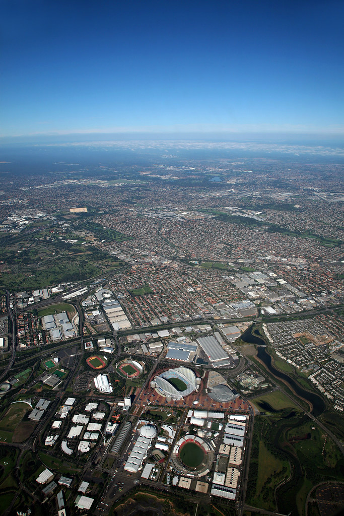 Image: Aerial View of Sydney Olympic Park
