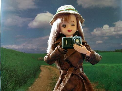 Jenny with a camera