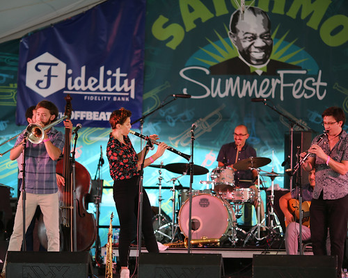 Aurora Nealand & the Royal Roses at Satchmo SummerFest - Friday, August 3, 2018. Photo by Bill Sasser.