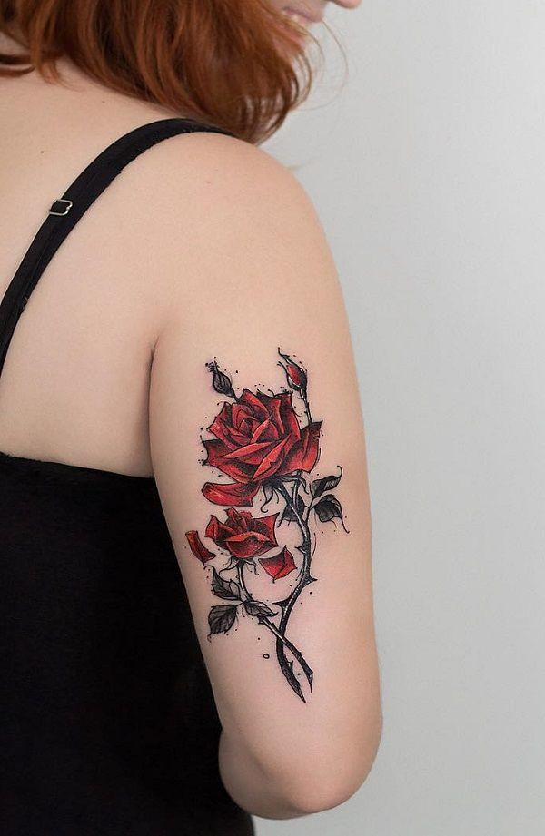 Flower Tattoos Amazing Rose Tattoo 120 Meaningful Ros Flickr
