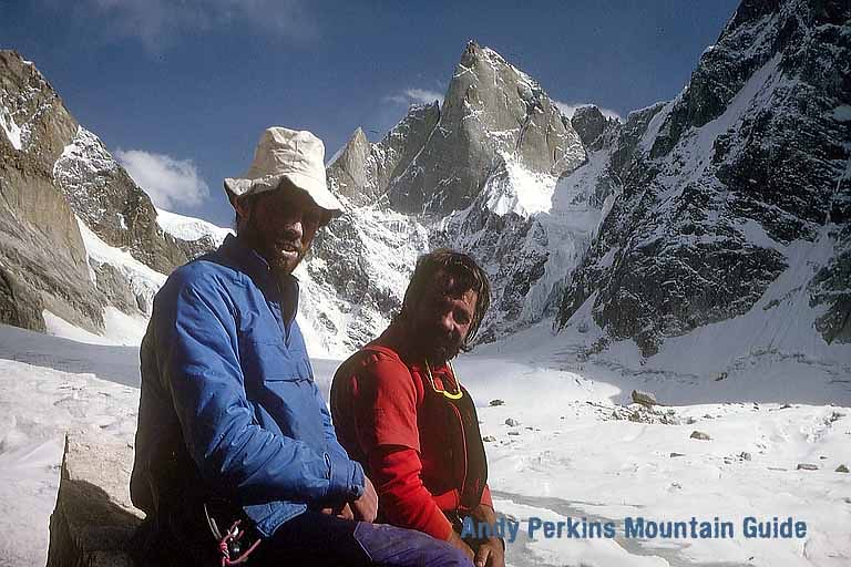 17 days with a great mate. We stopped 100m short of the summit. The mountain has been climbed 3 times, once by Mick Fowler and twice by Stephan Siegrist. Our route has not been repeated.