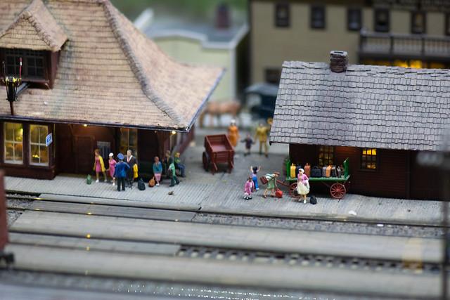 Tiny railway station