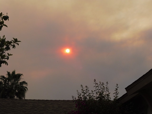 P1040245 Goleta red sun thru Sherpa Fire smoke clouds