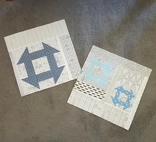 Churn Dash blocks for Faith Circle