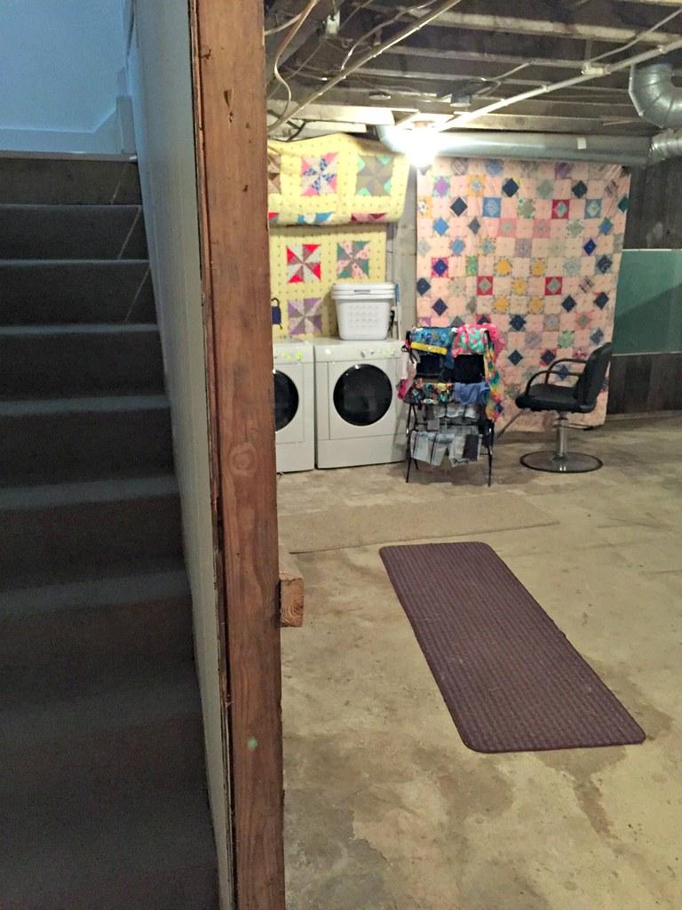 our basement laundry area