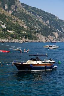 Boat in Positano   by nan palmero
