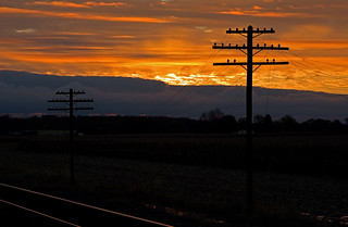 Sunrise along the old NYC Railroad # 2 (NS Chicago Line) | by monon738