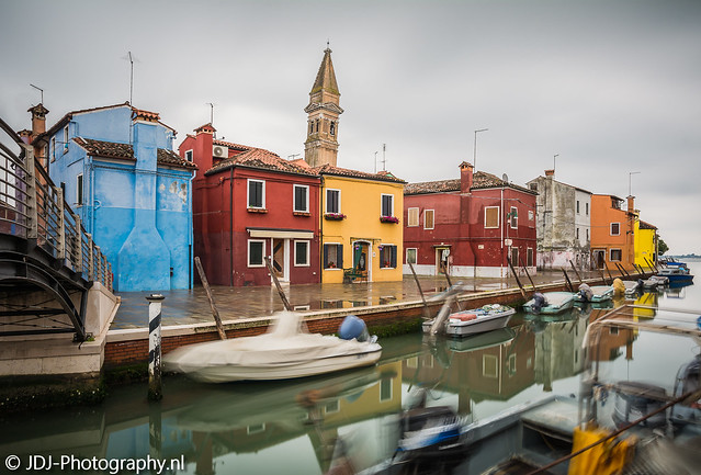 Crooked tower of Burano