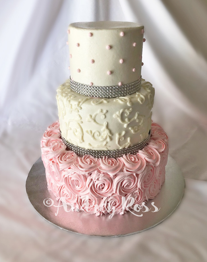 Marvelous Pink Bling Birthday Cake All Buttercream With A Little Flickr Funny Birthday Cards Online Elaedamsfinfo