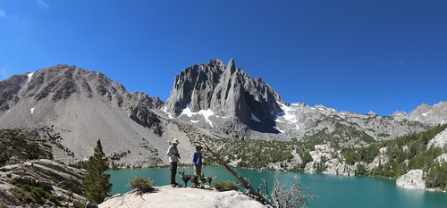 0450 Obligatory posed shot at Second Lake with Temple Crag looking awesome in the background - panorama | by _JFR_