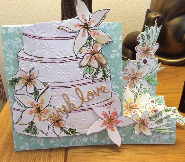 A side stepper Celebration Cake card