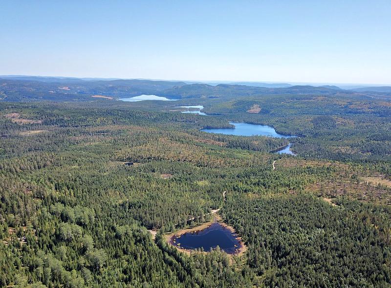 15-Utsikt mot Glitre fra Snaukollen (drone)