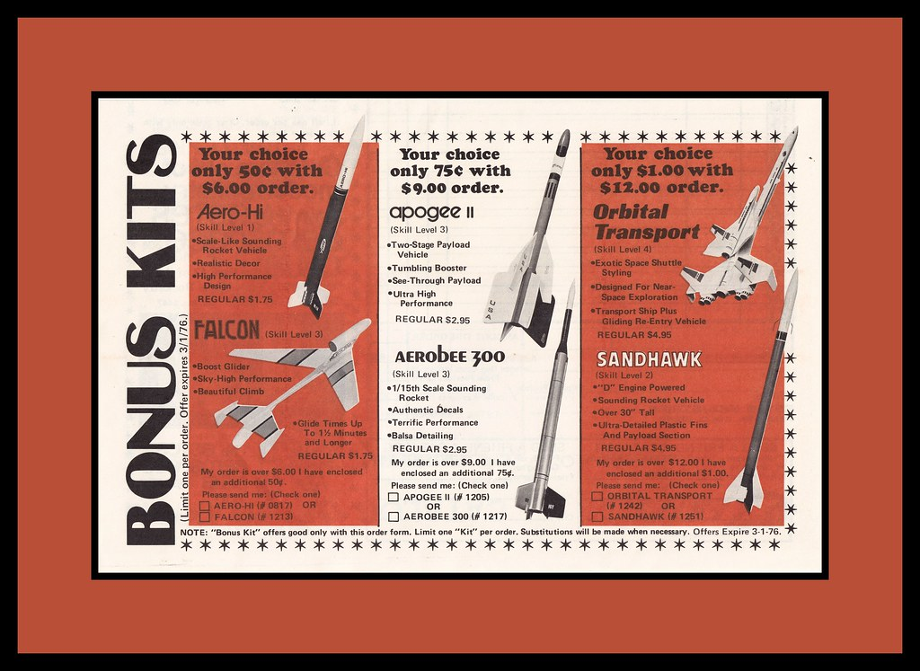 Estes Model Rockets Bonus Offers, 1976 | Cosmo Lutz | Flickr