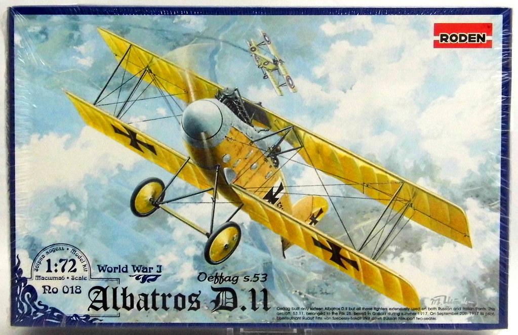 Roden Plastic Model Aircraft Kit - Albatros D II German Fi