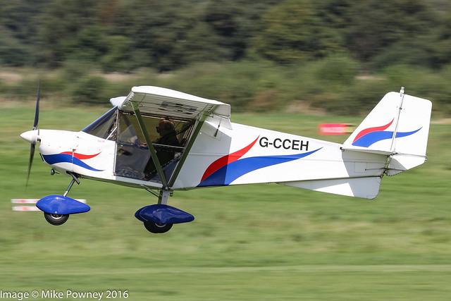 G-CCEH - 2003 build Best Off Skyranger, arriving on Runway 26L at Barton