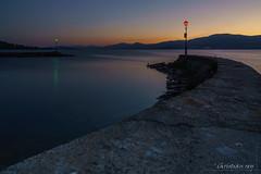 heure bleue sur le port d'Estavayer-le-Lac (Switzerland)