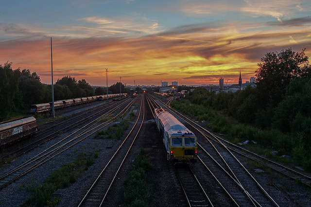 Sunset Over Midland Road, Leeds