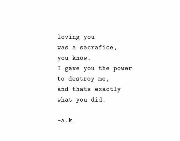 Sad Love Quotes Loving Her Was A Sacrifice Love Flickr