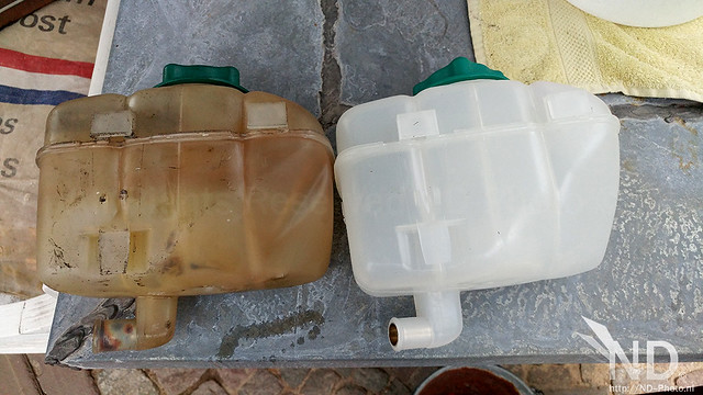 Volvo S80 2.4T Old vs New Coolant Expansion Tank
