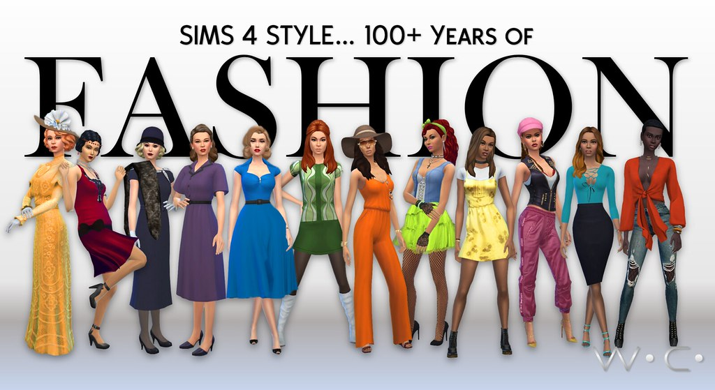 Sims 4 100 Years Of Fashion Sims 4 A Century Plus Of Fash Flickr