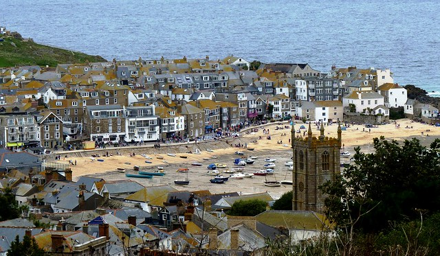St. Ives Harbour at Low Tide, Cornwall, England