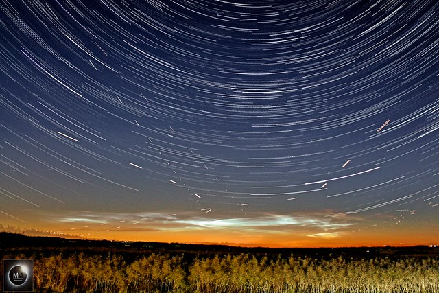 Noctilucent Clouds + 1hr 45min Star Trails 03/07/18