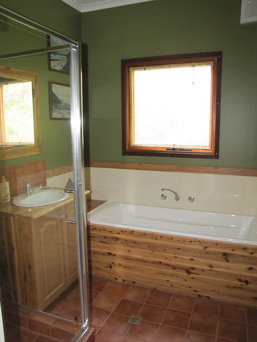 Guest Bathroom – Completed Strawbale House Build in Redmond Western Australia | by Red Moon Sanctuary