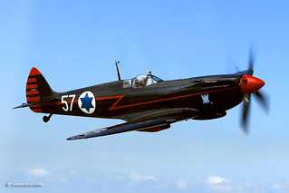 The Israeli Air Force Museum - מוזיאון חיל-האוויר Black Spitfire #57 © Nir Ben-Yosef (xnir) חיל האוויר ניר בן-יוסף | by xnir