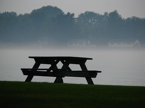 bench hbm benchmonday picnictable fog park