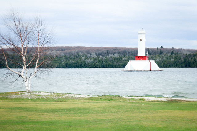 One of the lighthouses on the island.