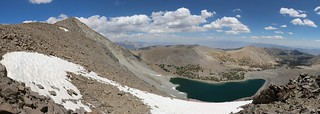 1377 Vagabond Peak (13112 feet elevation) on the left and Thunder and Lightning Lake down below | by _JFR_