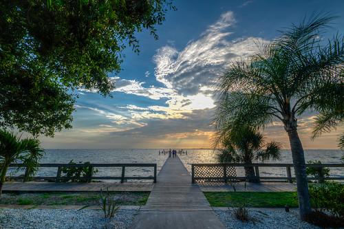 pier sunset bay tampa ruskin florida fl fla gulf water ruskinflorida littleharbor tampabay