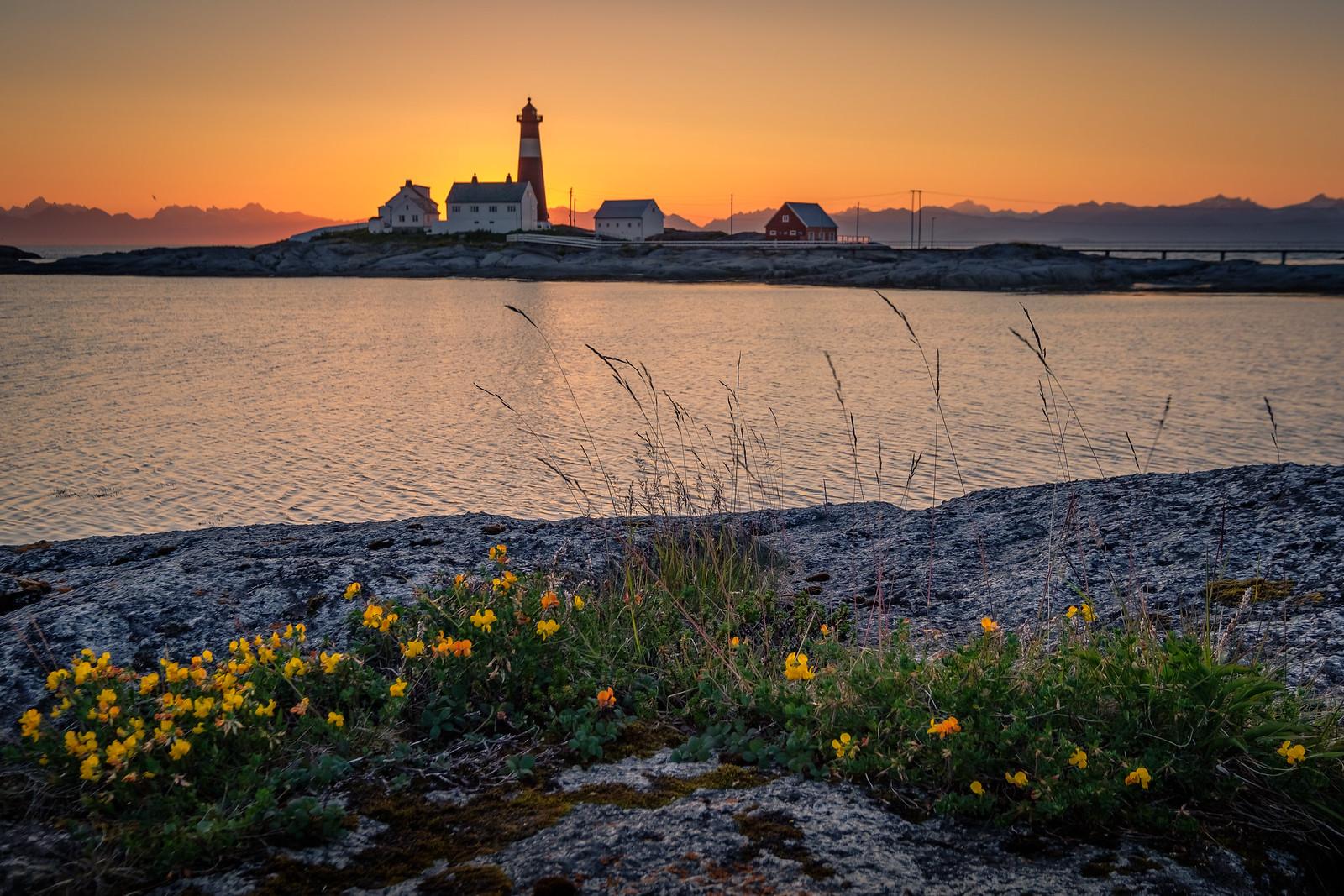 Midnight at Tranøy Lighthouse