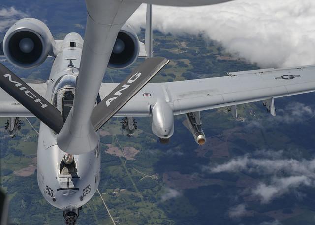 Saber Strike 18 in-flight refuel