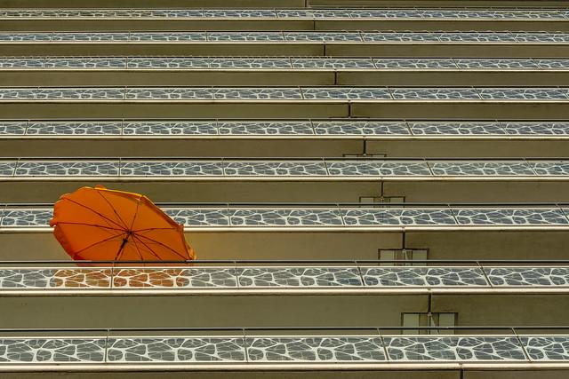 Orange parasol
