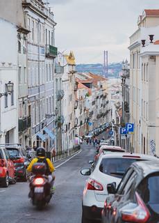 Scooter in Lisbon   by nan palmero