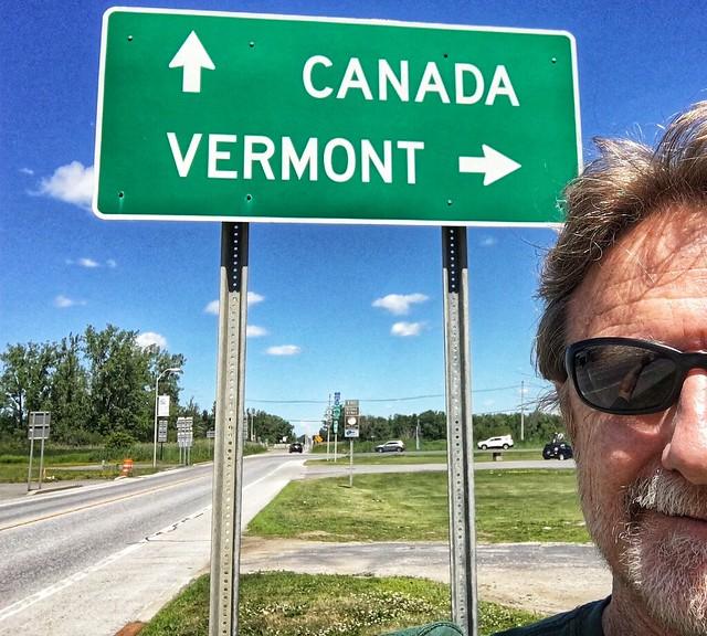 Semi selfie at the crossroads